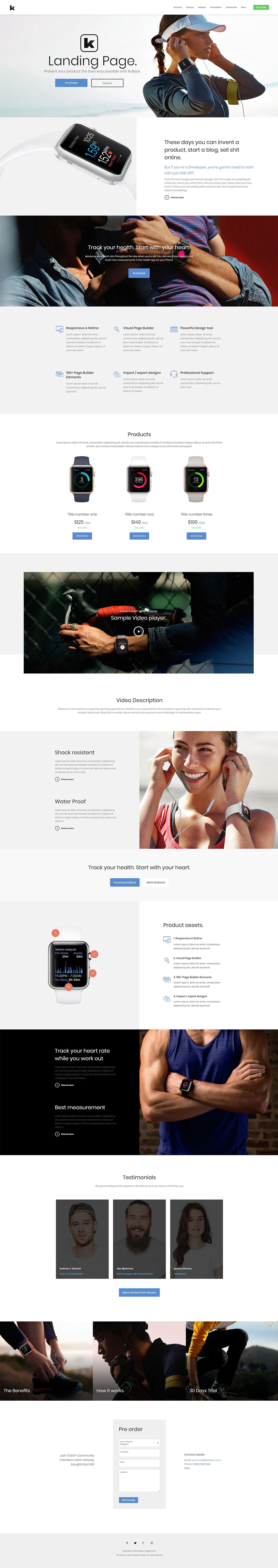 App Landing Page – Free PSD Template | Hogash Studio