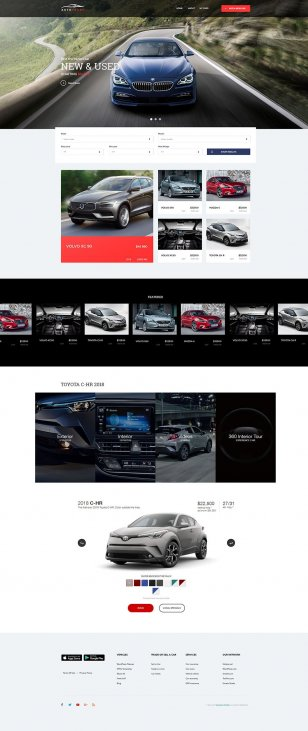 Autotrader Free Psd Template Hogash Freebies