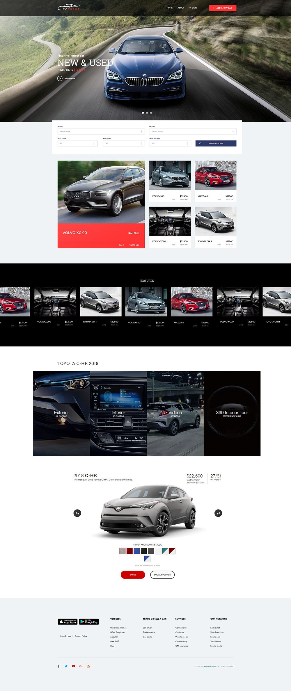 AutoTrader - Free PSD Template