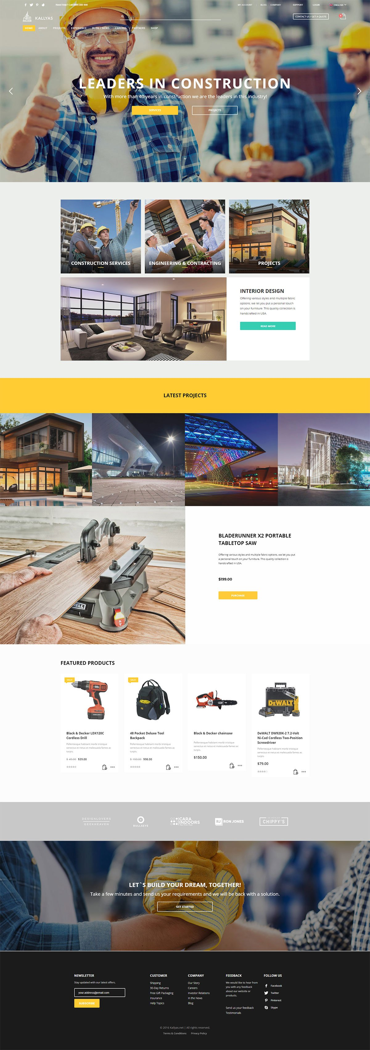 Construction - Free PSD Template
