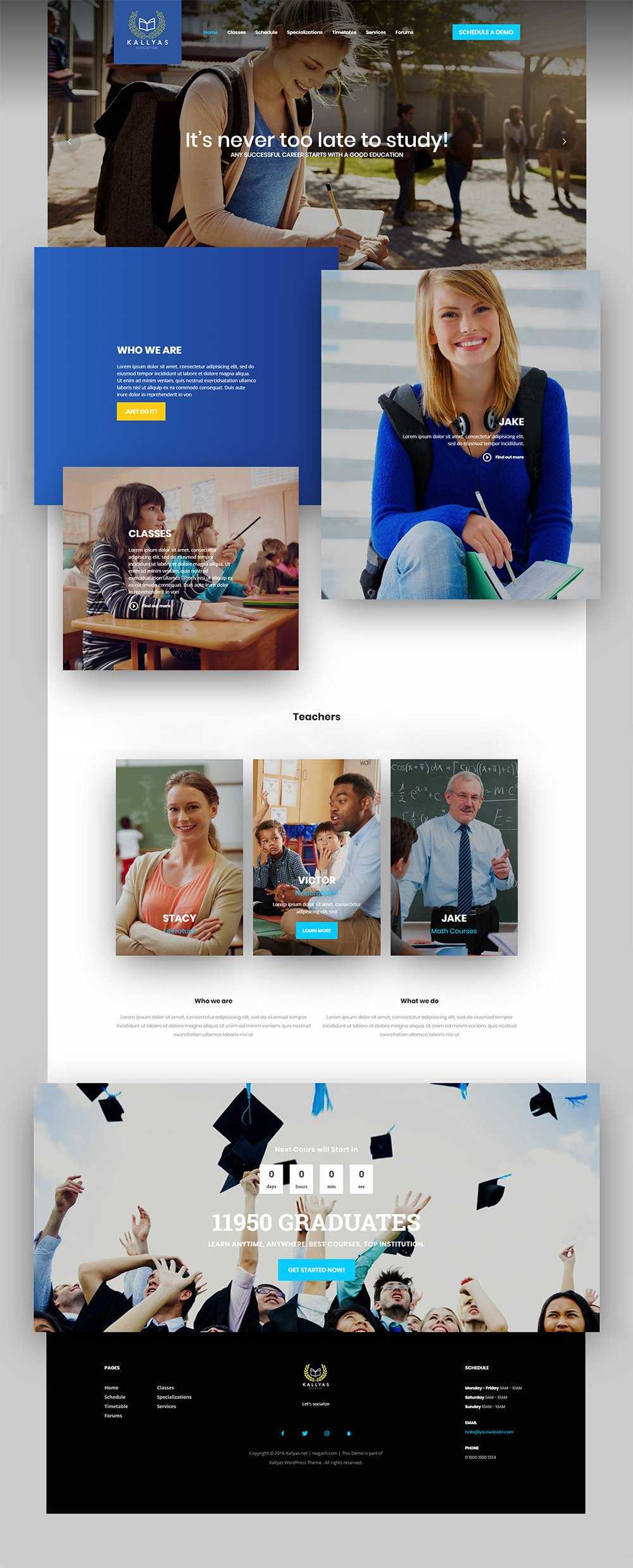 Education – Free PSD Template | Hogash Studio