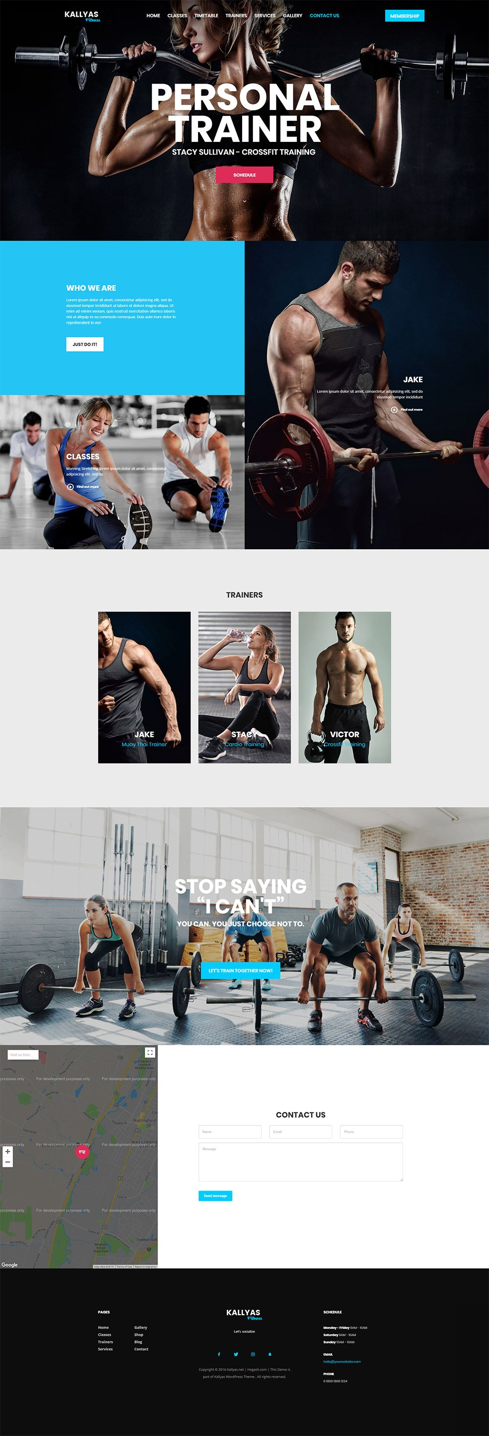 Fitness & Gym– Free PSD Template | Hogash Studio