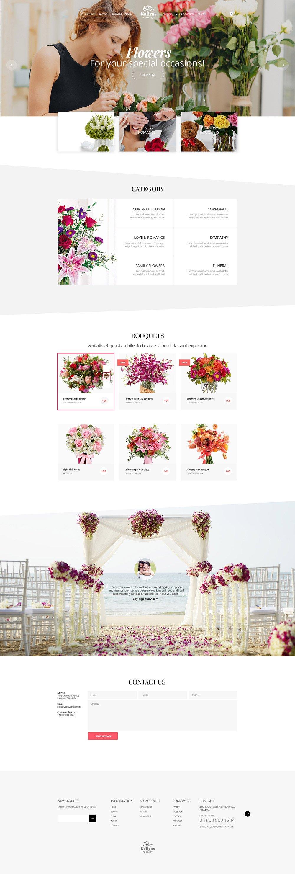 Florist Shop - Free PSD Template