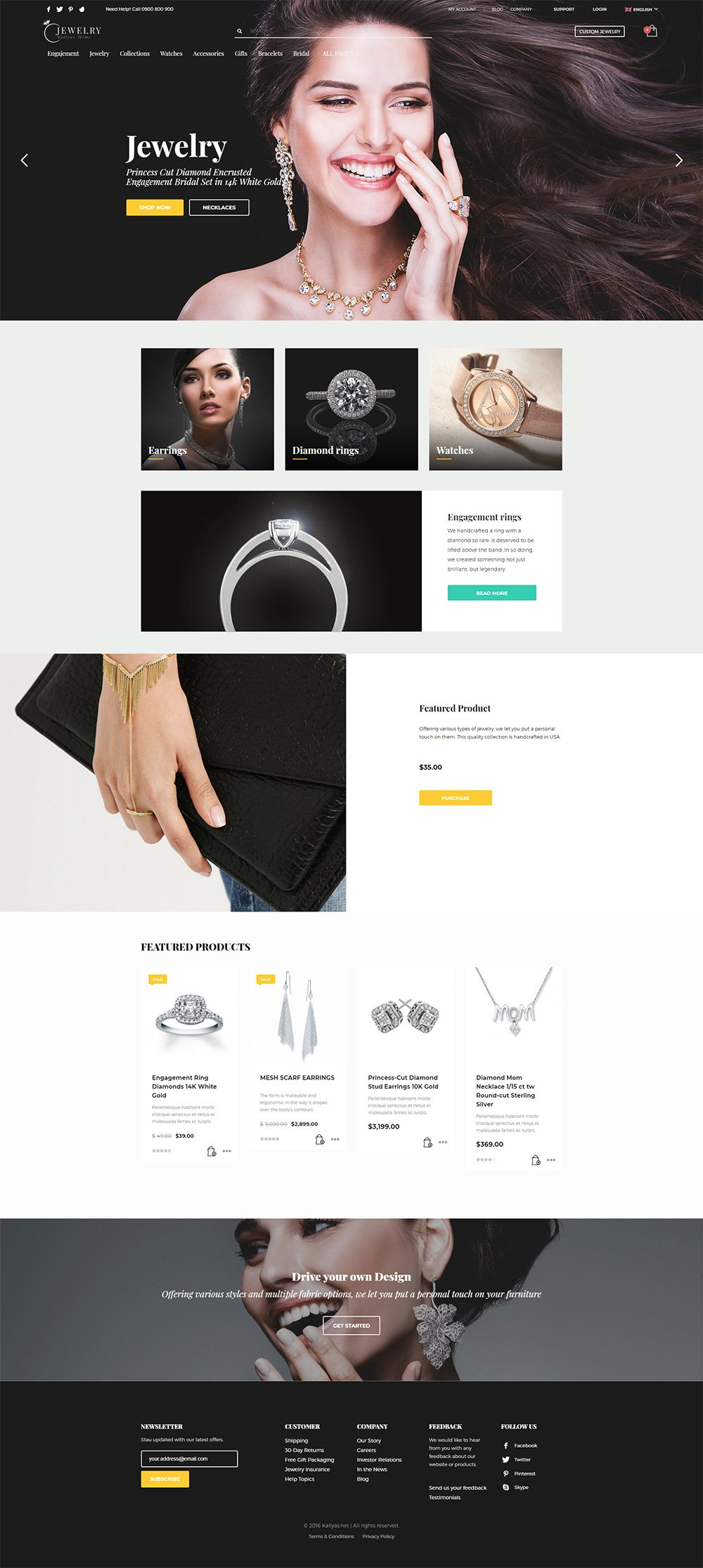 Jewelry - Free PSD Template