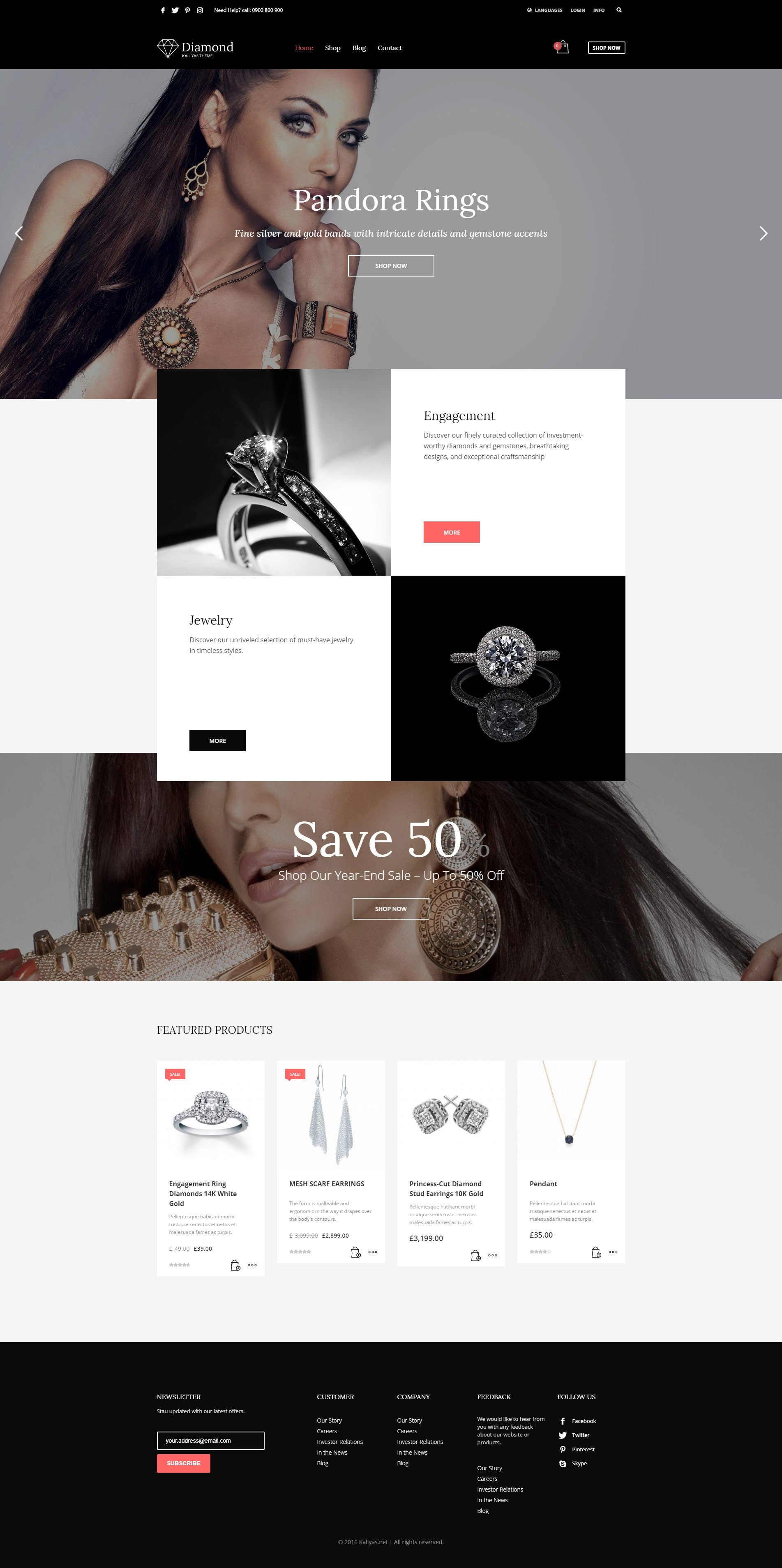 Jewelry & Watches - Free PSD Template