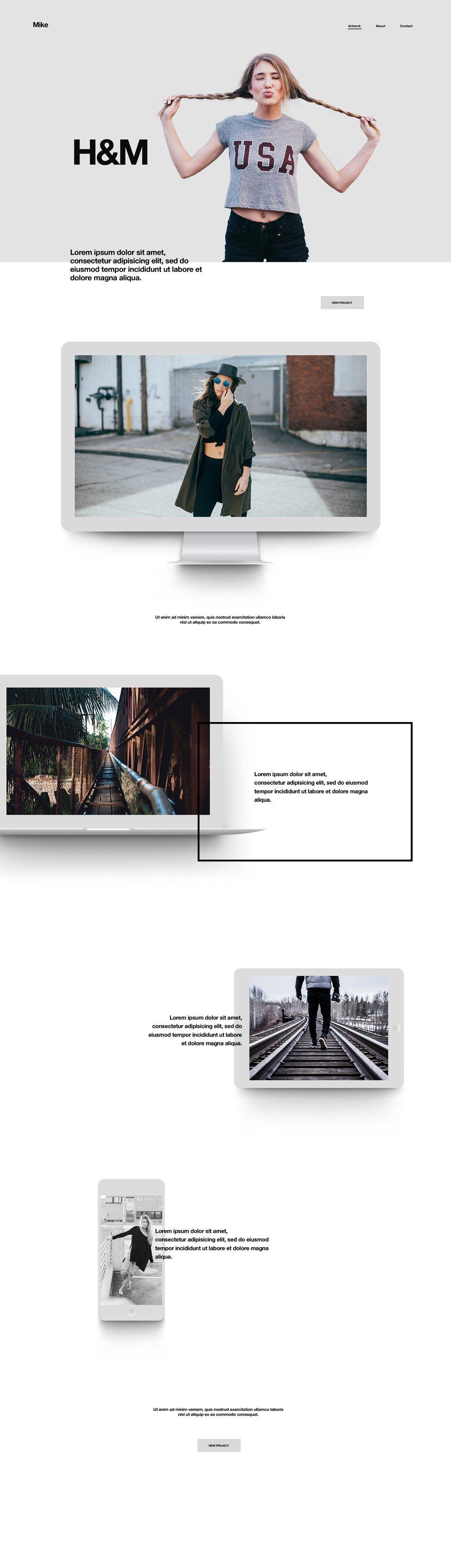Mike Slider Portfolio - Free PSD Template - Hogash Studio