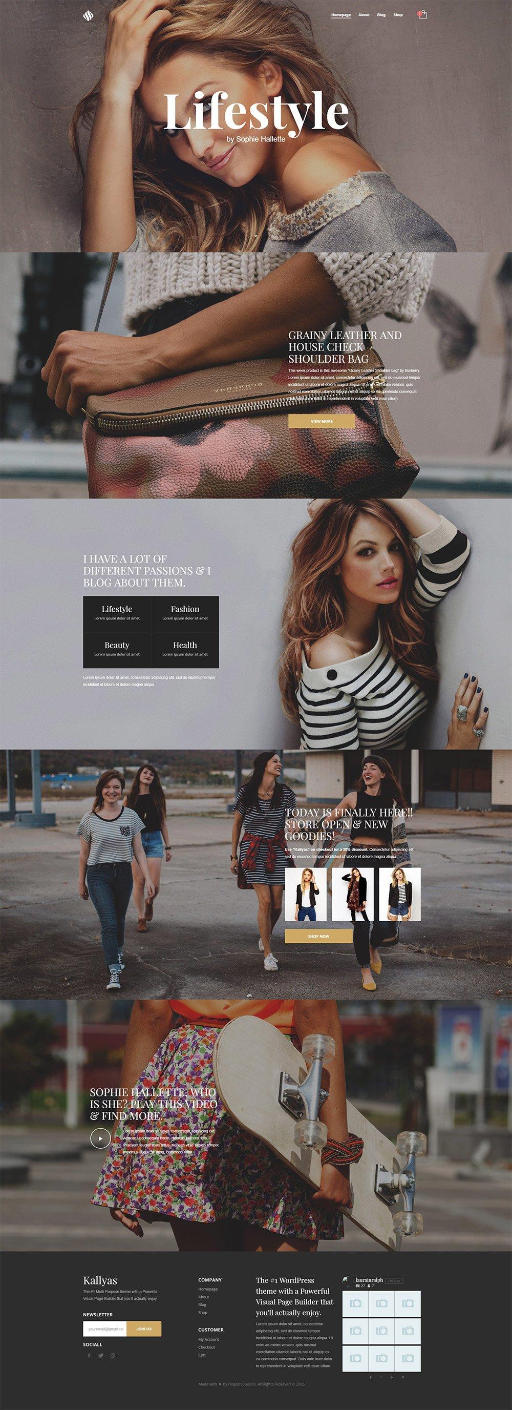 Parallax & Shop - Free PSD Template