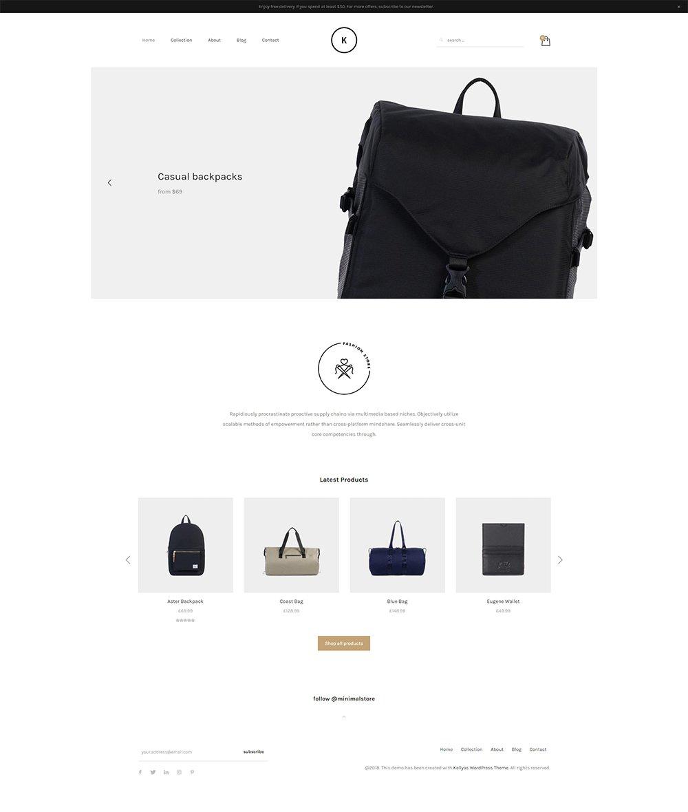 Minimal Store – Free PSD Template | Hogash Studio