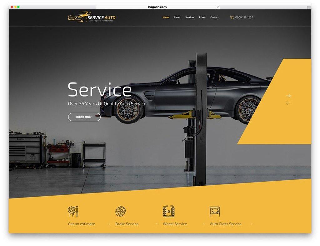 Car Service Free PSD Template