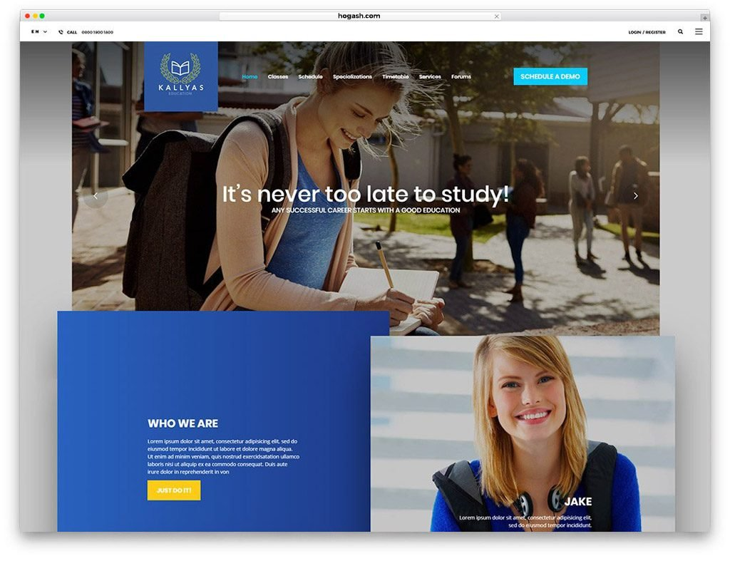 Education Free PSD Templates