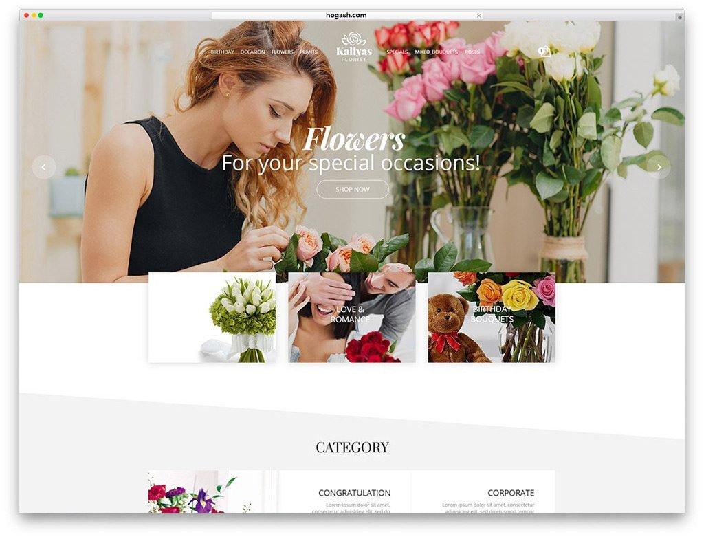 Florist Shop Free PSD Template