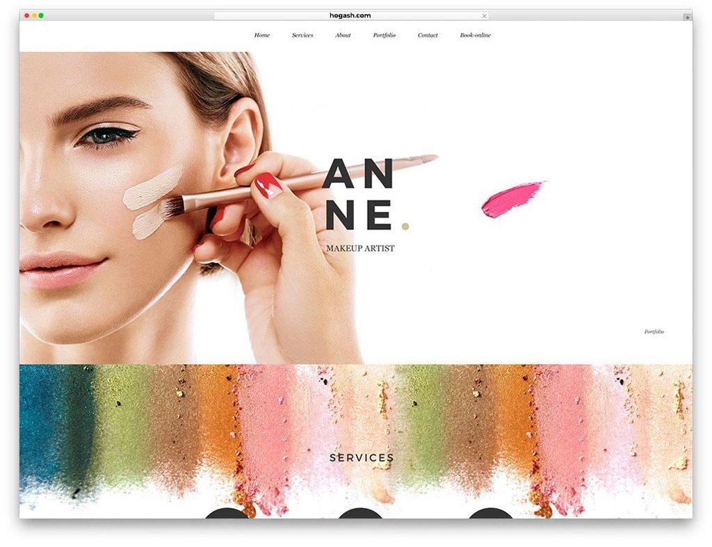 Makeup Artist Free PSD Template