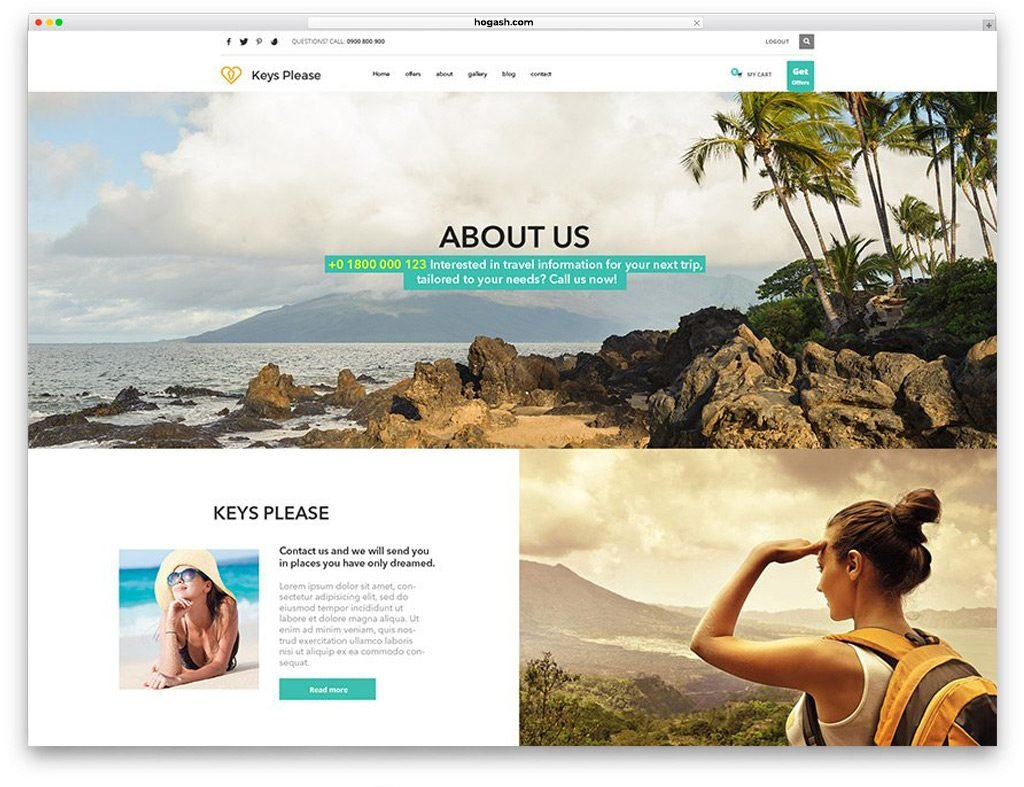 Travel Free PSD Template