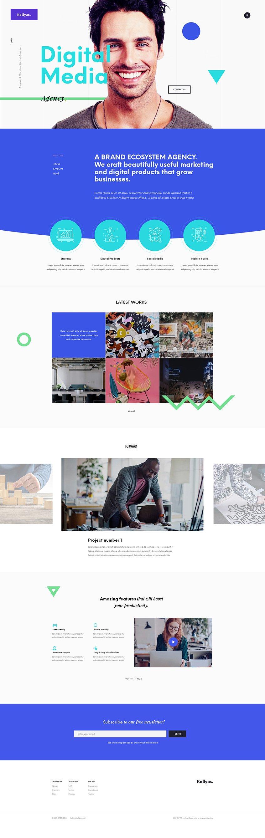 Vivid Agency - Free PSD Template