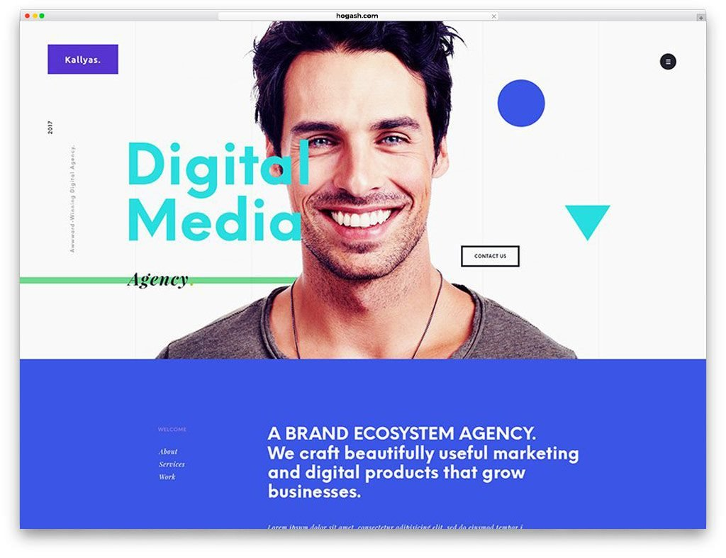 Agency Free PSD Templates