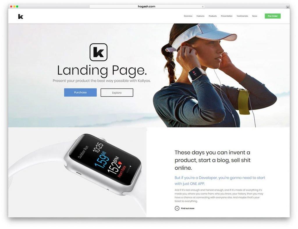 App Landing Free PSD Website Template
