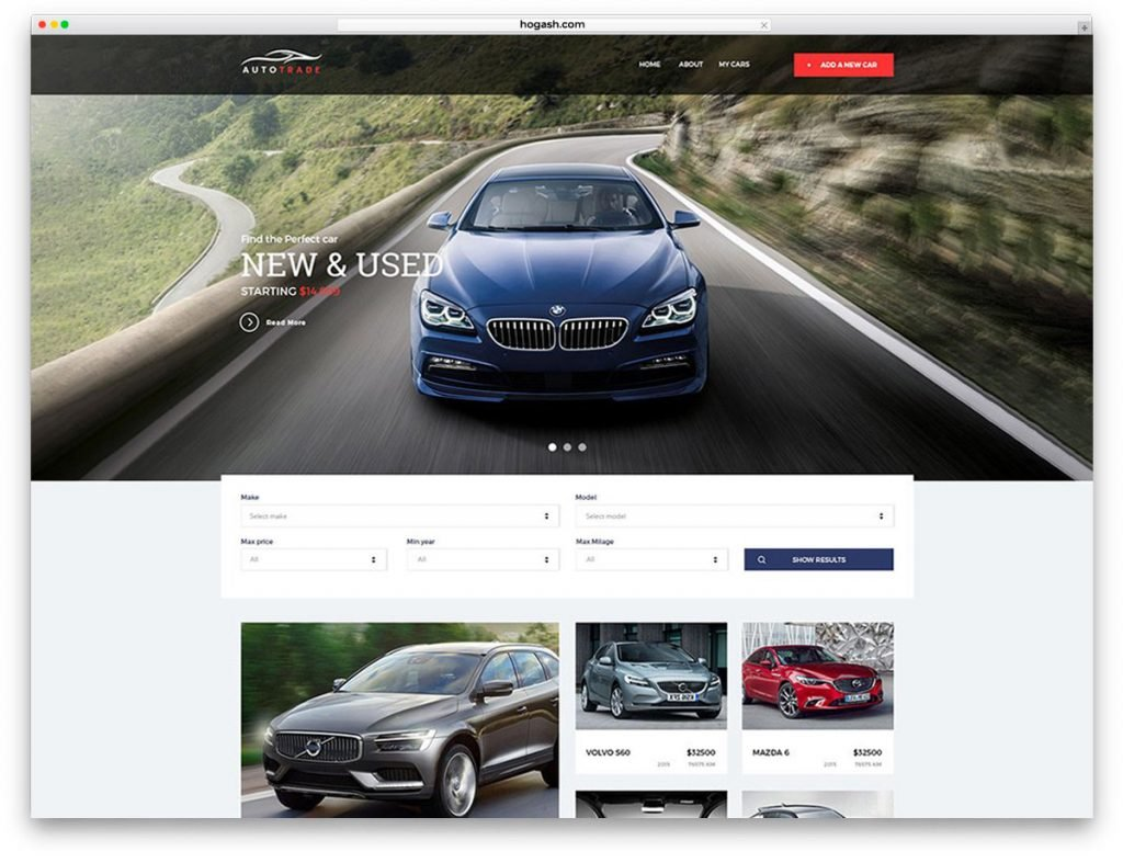 Autotrader Free PSD Website Template
