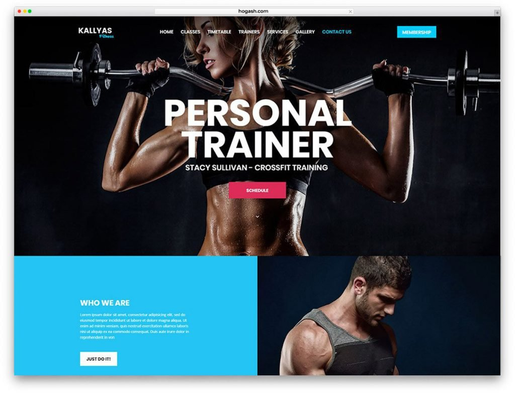Fitness Free PSD Website Template