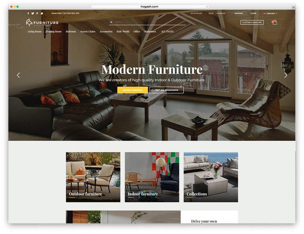 Furniture & Interior Design Free PSD Website Template