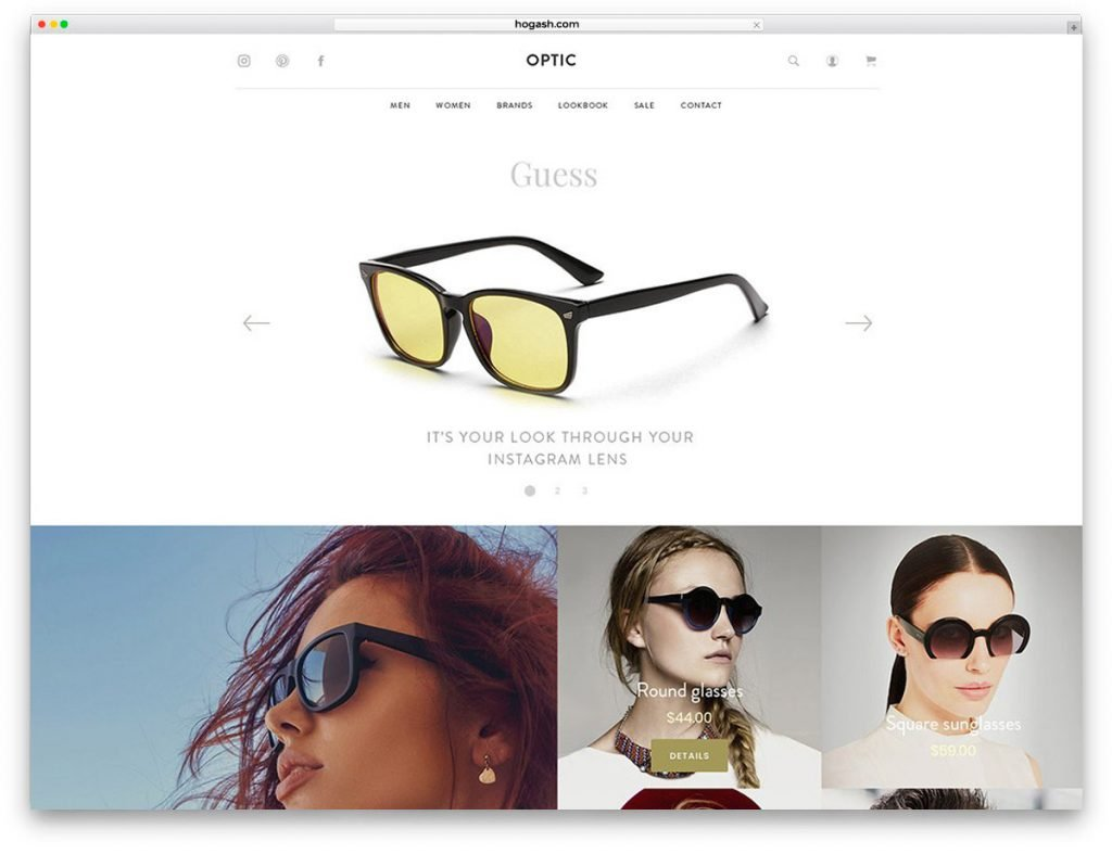 Glasses Store Free PSD Website Template