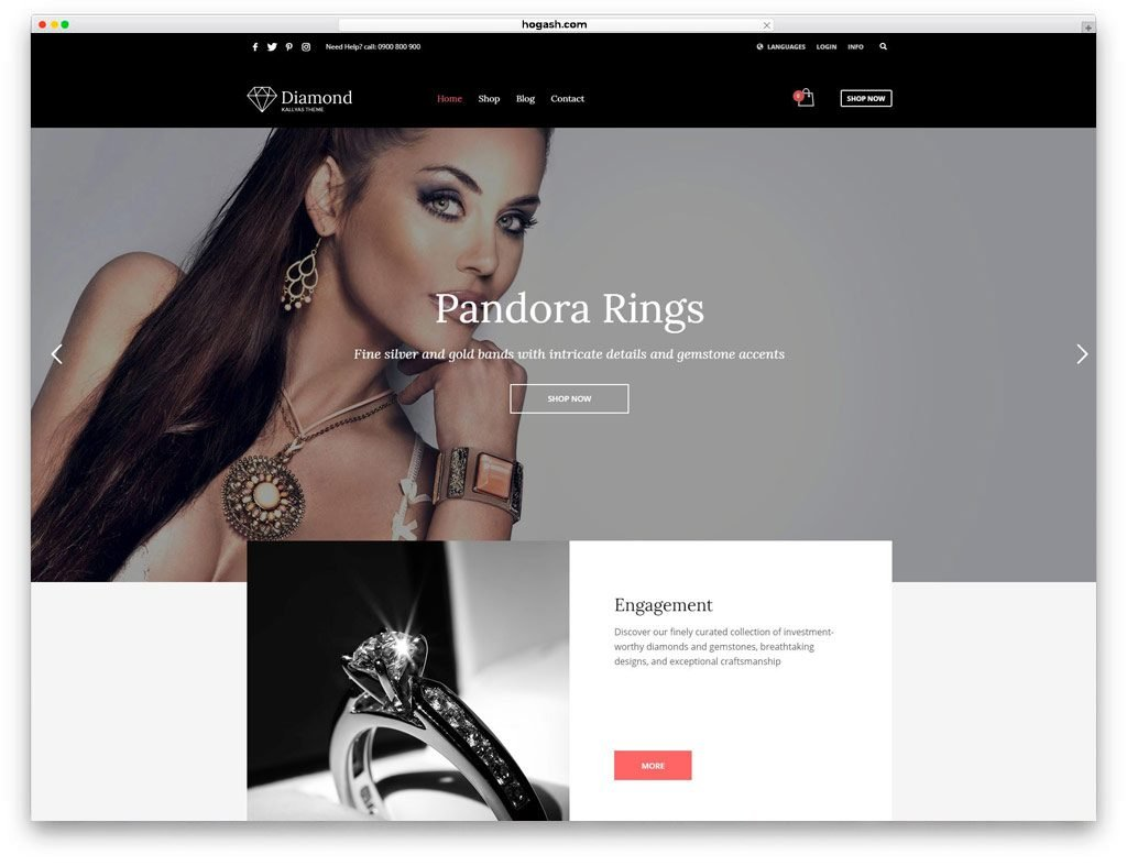Jewelry & Watches Free PSD Templates