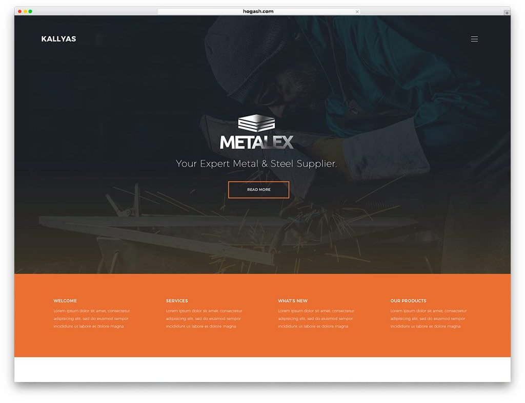 Metal Works Free PSD Templates