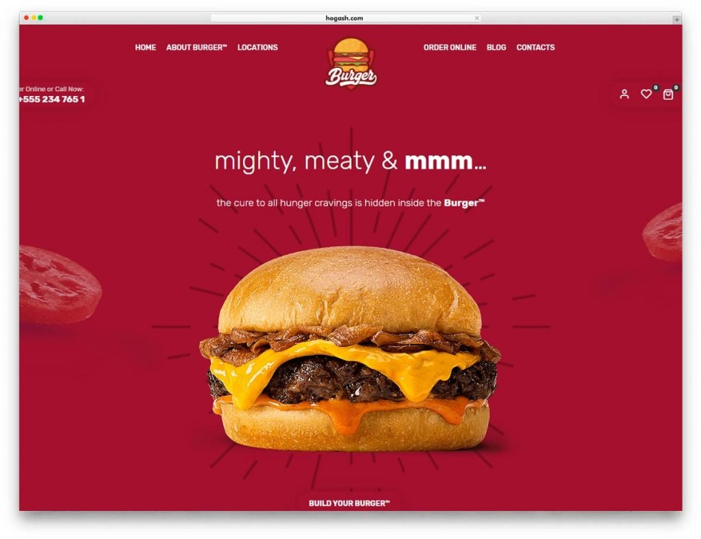 Fast Food & Restaurant WordPress Theme