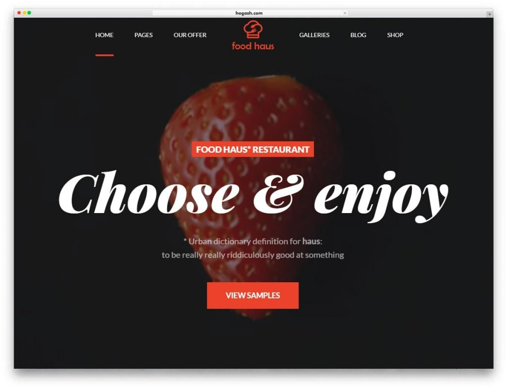 Restaurant Bistro WordPress Theme