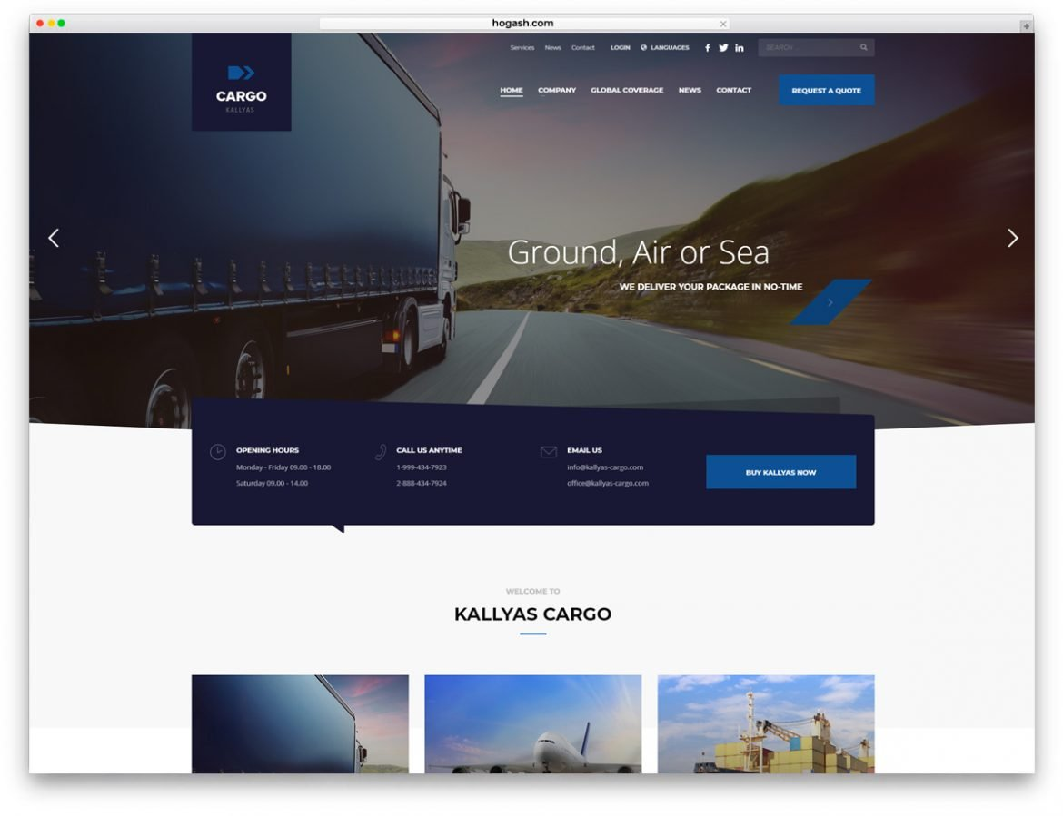 Logistics & Transportation WordPress theme