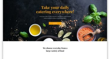 Catering Business Website WordPress Theme
