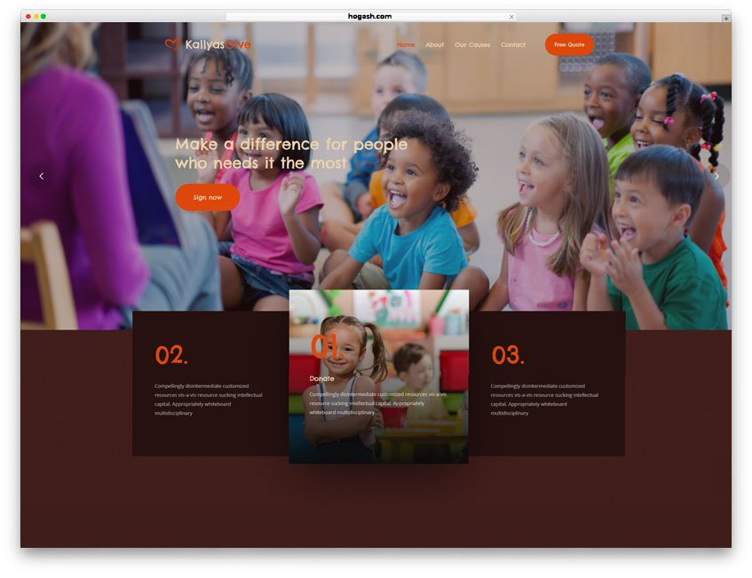 Child Care Services Website WordPress Theme