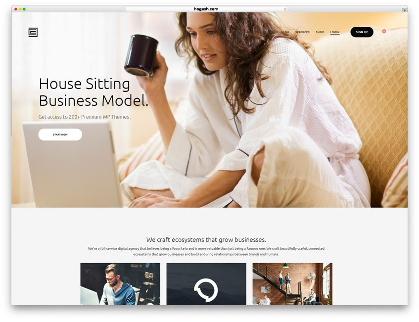 House Sitting Website WordPress Theme