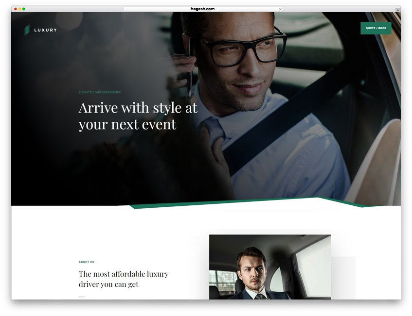 Limousine Service Website WordPress Theme