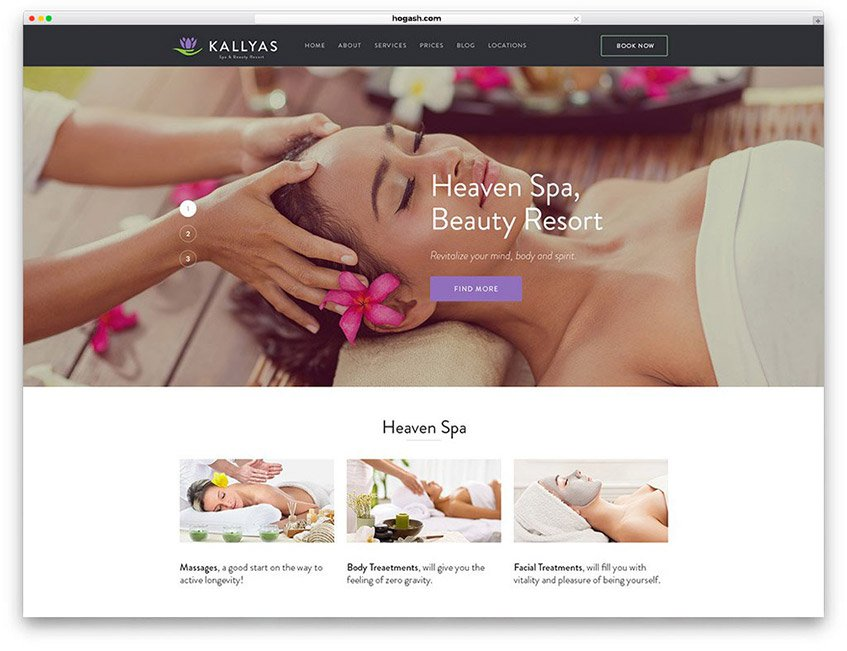 Massage Therapist Website WordPress Theme