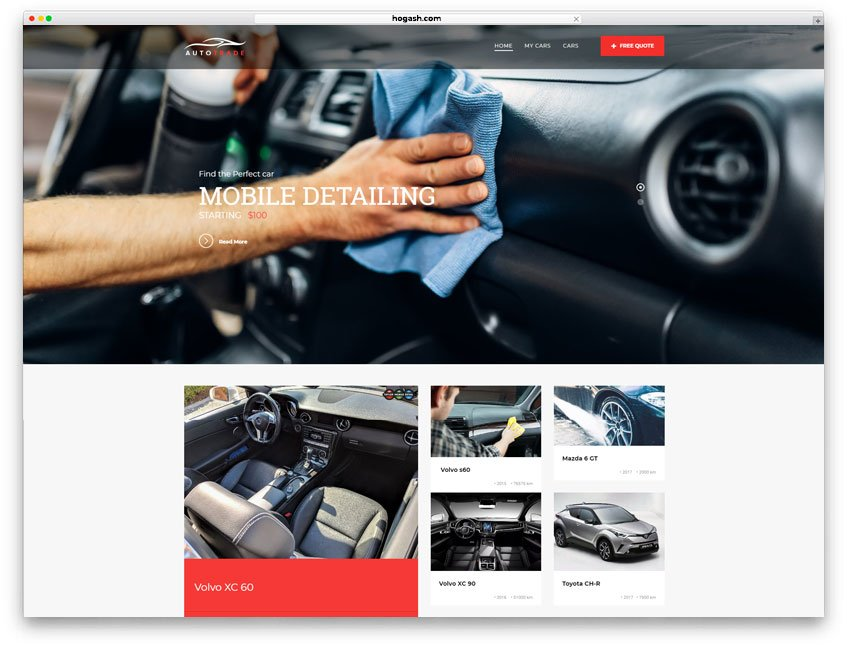 Mobile Detailing Website WordPress Theme