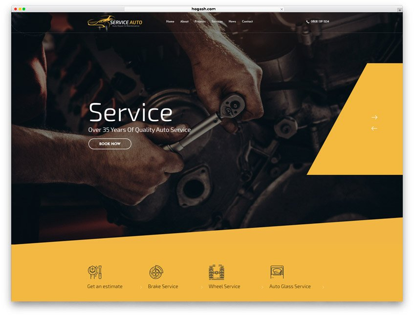 Mobile Mechanic Website WordPress Theme
