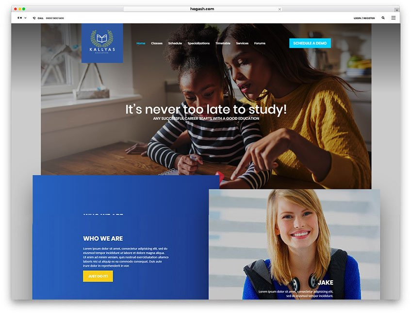 Tutoring Services Website WordPress Theme