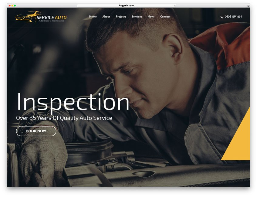 Used-Car Inspection Website WordPress Theme
