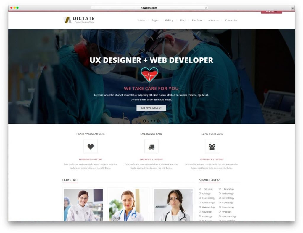 Doctor & Clinic WordPress Theme