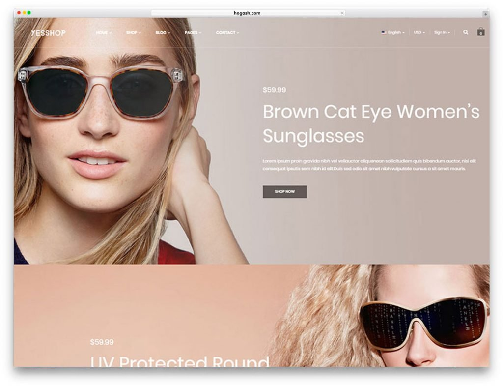 Optical Shop WordPress Theme