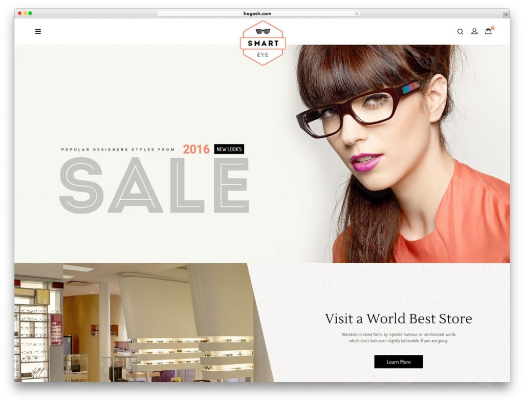 Sunglasses Store WordPress Theme