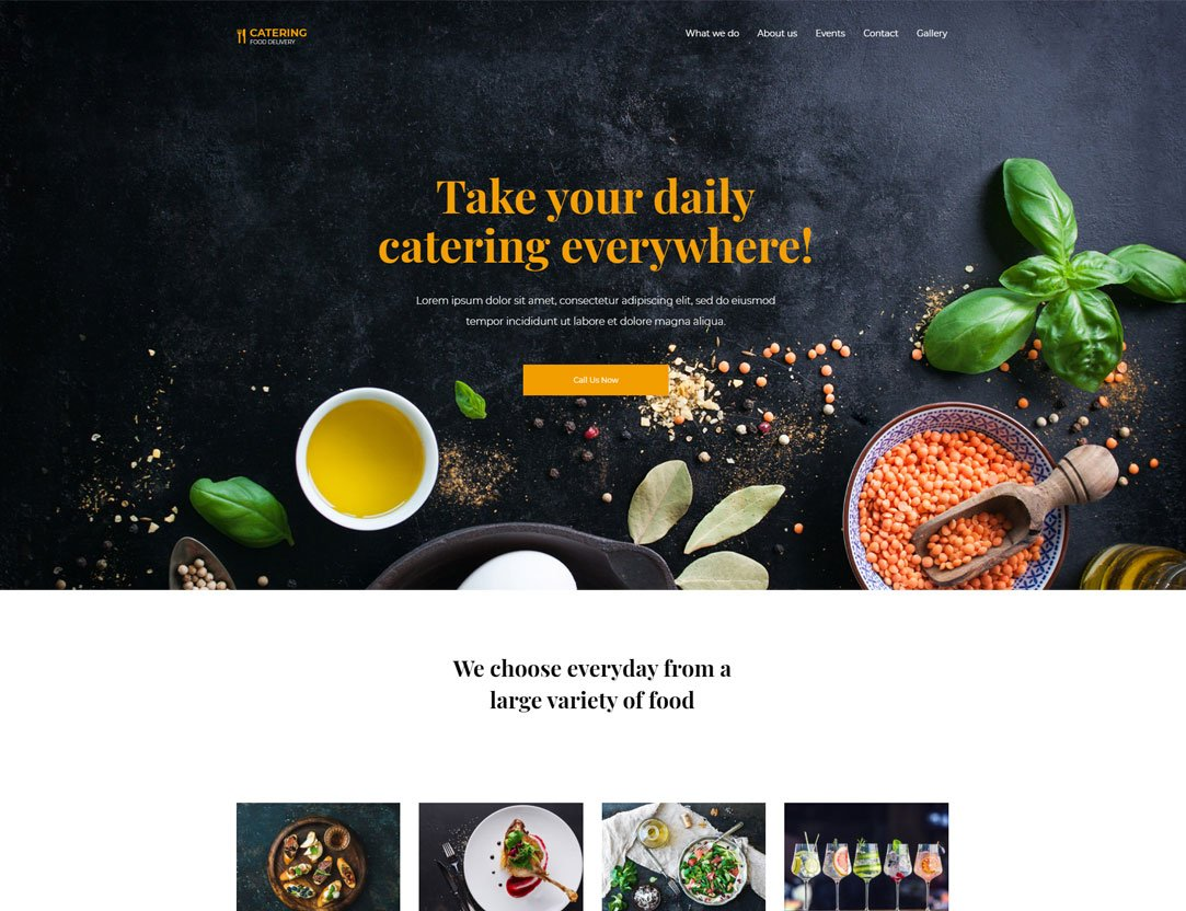 Catering WordPress Theme - Kallyas