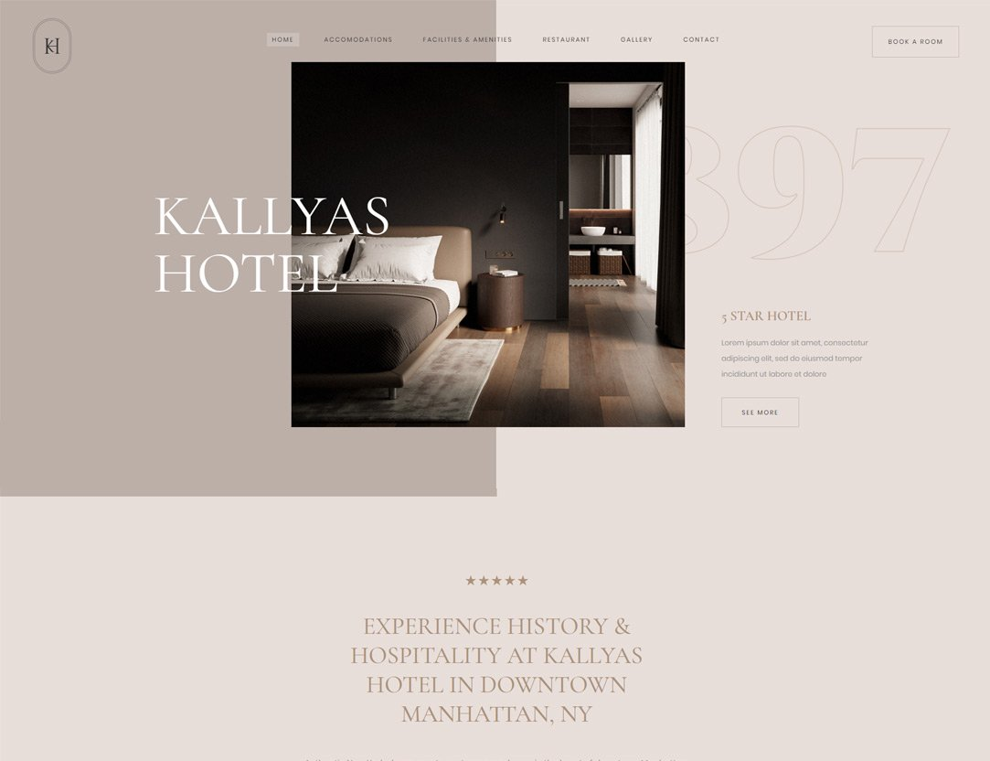 Hotel Spa WordPress Theme - Kallyas