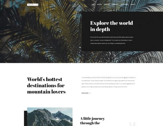 Travel Blog WordPress Theme - Kallyas