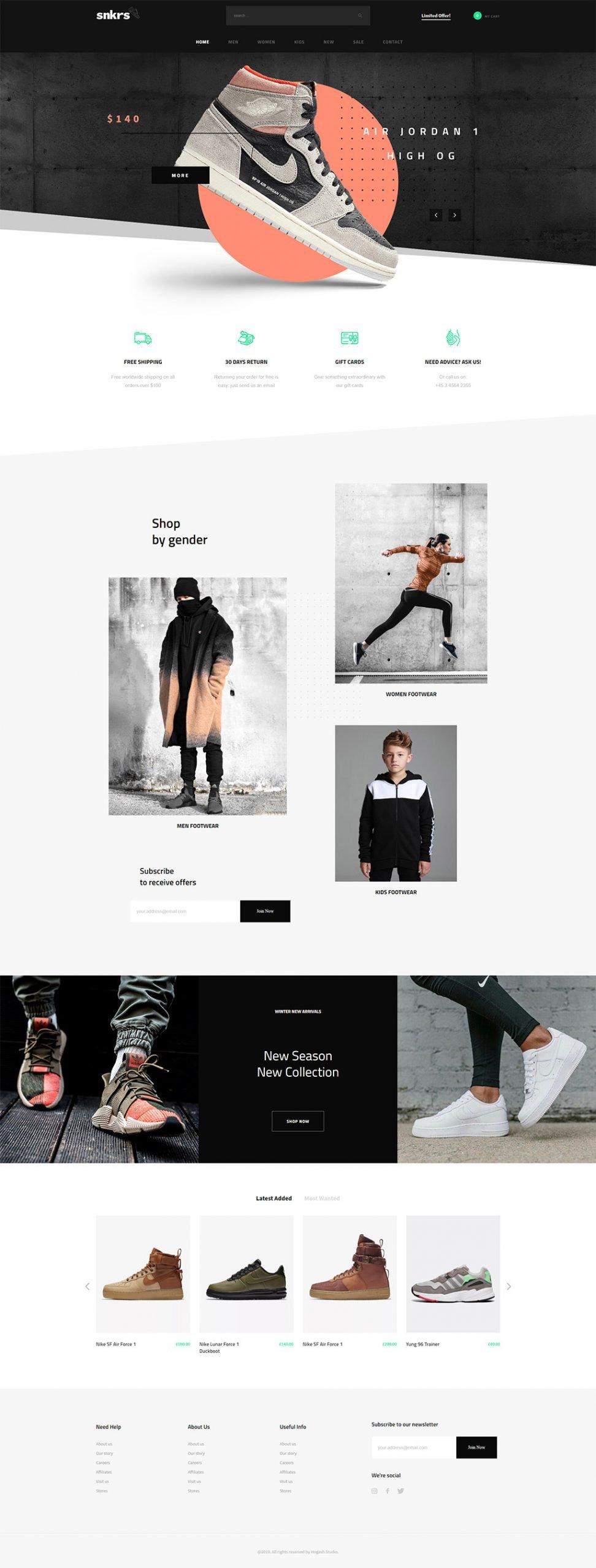 Sneakers Store WordPress Theme