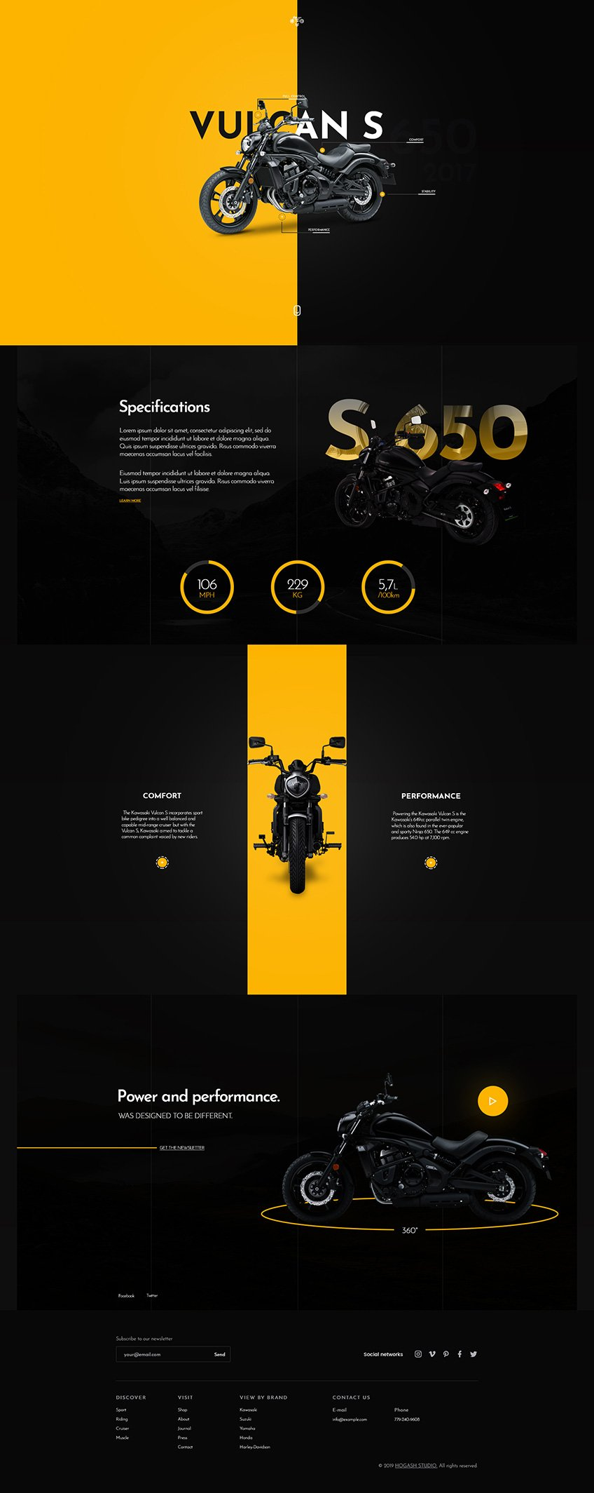 Motorcycle Store - Free PSD Template