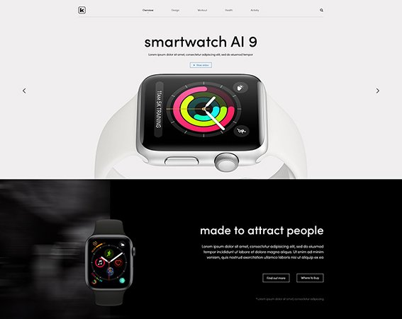 SmartWatch Store - Free PSD Template