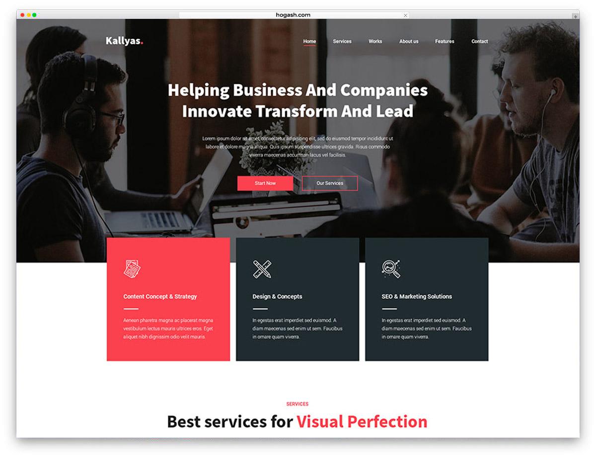 Business Agency Free PSD Website Template