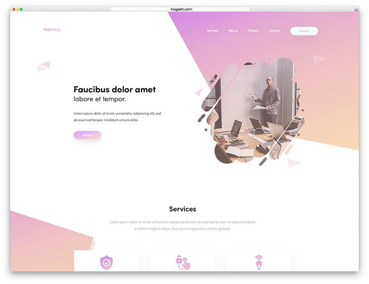 Creative Agency Free PSD Website Template