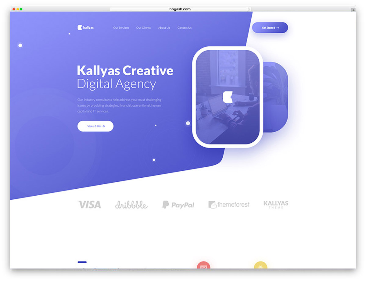 Digital Agency Free PSD Website Template